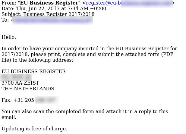 E-mail EU Business Number