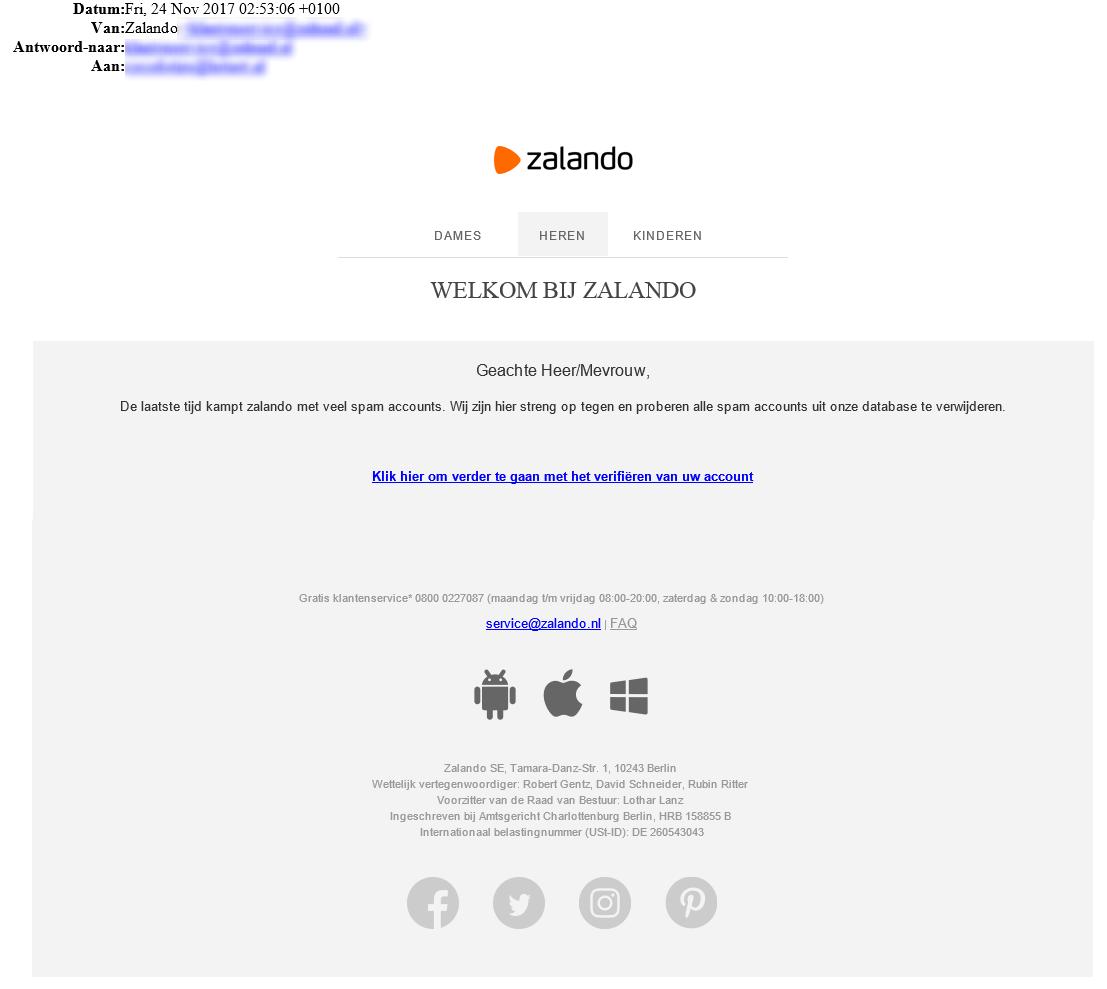 zalando factuur Phishingmail gericht op klanten Zalando   Fraudehelpdesk